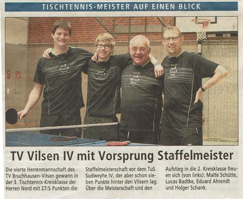 (v.l.) Malte Schütte, Lukas Badtke, Eduard Arendt, Holger Schank